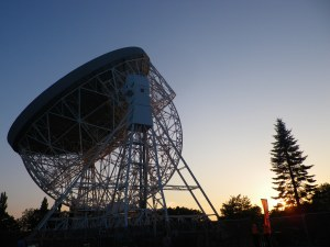 Jodrell Bank Observatory. Image shared by Sue Langford under a Creative Commons license.
